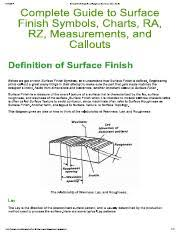Guide Of Surface Finish Symbols And Roughness Conversion