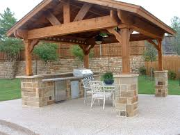 Outdoor Kitchen Roof Covered Outdoor Living Spaces Standalone Shingled Roof Structure