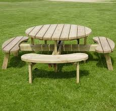 decorating beautiful round picnic table plans 22 diy astonishing patio furniture design ideas beautiful round