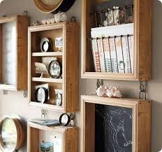 home office wall organization. creative wood wall organizer idea for office or home organization