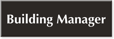 Buiding Manager Manager Room Signs Building Manager Signs