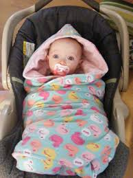 tutorial hooded car seat blankies