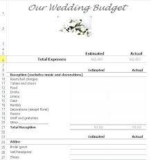 Wedding Budget Template Google Sheets Wedding Estimate Template