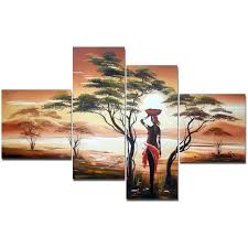 mother nature large african painting woman transitional prints liked on polyvore featuring home home decor wall art and woman painting  on transitional canvas wall art with mother nature large african painting woman transitional prints