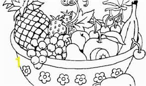 Bowl Of Fruit Coloring Page Awesome Cute Fruit Coloring Pages