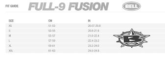 Bell Full 9 Fusion Helmet Matte Black Slate Orange