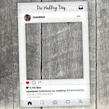 instagram new look frame cut out with instagram prop printable diy for wedding birthday events photo booth props custom digital file
