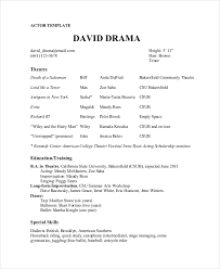 Theatre Resume Template Magnificent Theater Resume Template 60 Free Word PDF Documents Download