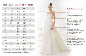 Wedding Dresses Size Chart 133191457 Vera Wang Wedding