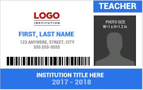 Word Badge Template Teacher Photo Id Badge Templates For Ms Word Word Excel