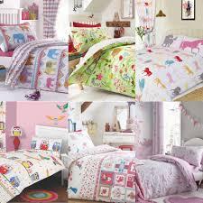 details about girl s duvet covers children s poly cotton bedding kids single duvet cover set