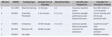 Heart Rate Guidelines For Functional Training Circuits