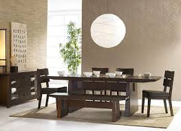 oriental modern furniture. dining room decorating in asian style dark wood furniture calligraphy art bamboo plant and paper lamp oriental modern lushome