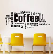 wall decor colorfulhall image black 39 4 x 15 7 kitchen coffee words removable vinyl on vinyl wall art words stickers with colorfulhall wall decor black 39 4 x 15 7 kitchen coffee words