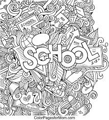 coloring pages for back to school doodles coloring page coloring pages school coloring pages for back to school
