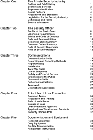 security skills security institute of a manual for the code of conduct 9 role and responsibilities 10 beneficial skills summary 11 common duties summary 12