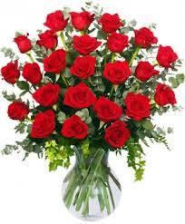 24 radiant roses red roses arrangement in new orleans la carrollton flower market
