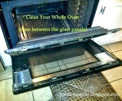 clean inside oven door cleaning oven door with baking soda clean inside oven door clean inside