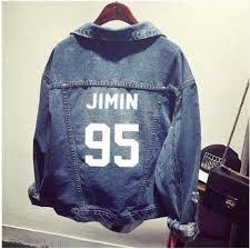 <b>kpop EXO GOT7 jin</b> suga clothes Shirt denim jacket hole coat female ...