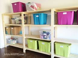free plans to build garage shelving using only 2x4s easy and inexpensive but sy and functional includes tutorial from ana white com