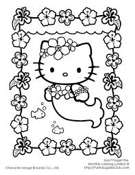 Printable mermaid coloring pages pdfs. Hello Kitty Mermaid Coloring Sheet Page 1 Line 17qq Com