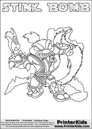 Skylanders Swap Force Coloring Pages Stink Bomb Color Bros