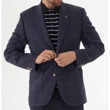 Basket Blazer Design Basket Weave Jacket Blue
