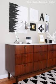 modern credenza furniture. Mc Danish Modern Credenza Wd Mid Century Buffet Before After With Glossy White Top Walnut Teak Contemporary Wall Mounted Cabinet Wholesale Furniture O