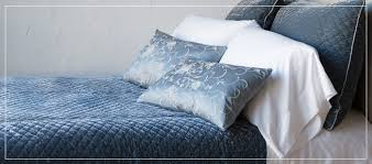 custom bedding from bella notte featuring the silk with velvet fabric collection