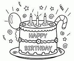 Printable Birthday Coloring Pages 49500