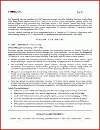 Best Of Accounting Resume Summary Examples Mailing Format