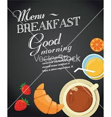 breakfast menu template breakfast menu template vector chalkboard by ma_rish on vectorstock