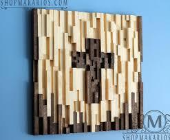 Reclaimed Wood Wall Art Shop Makarios Wood Tile Wall Art Cross Reclaimed Wood Art Modern