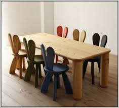 childrens wooden table and chairs nz
