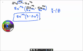 factoring with rational exponents