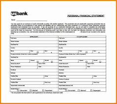 Personal Financial Statement Form Custom Sample Personal Financial Statement Form Hasnydesus