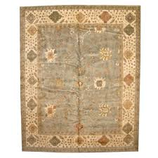 indo hand knotted vegetable dye oushak wool rug 12 x 15