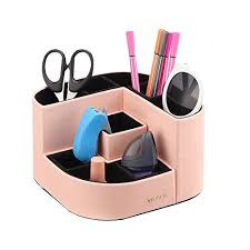 colorful office accessories. Simple Office VPACK Magnet Desk Organizer  PU Leather Pencil Cup Holder Office  Supplies Desktop Stationery Storage Box Pink In Colorful Accessories