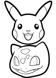 Pikachu Coloring Pages Head