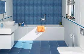 bathroom floor tile blue. White And Blue Small Bathroom Floor Tile Combination H