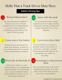 skills that a truck driver must have burleigh driver training school