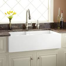 36 risinger 60 40 offset bowl fireclay farmhouse sink smooth a