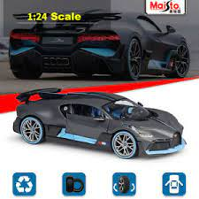 1:24 diecast toy car model metal wheels bugattis gt sports car simulation pull back car collection kids boys toys christmas gift. New Bugatti Divo Gray Maisto 1 24 Scale Diecast Model Car Roadster Collection Ebay