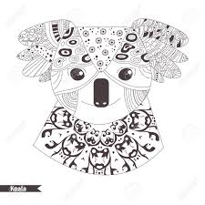 koala coloring book for antistress coloring pages hand drawn vector isolated ilration