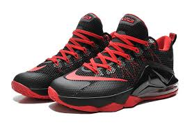lebron xii low. men\u0027s nike lebron xii low black/crimson basketball shoes 724557-618 for sale outlet lebron xii