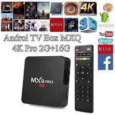 Androi TV box MXQ 4K PRO mẫu mới 2020 hỗ trợ tiếng việt cài đặt dễ dàng  Tích hợp FPT Play - Biến TV thường thành Smart TV- hàng nhập khẩu -