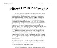 sample college admission whose life is it anyway essay whose life is it anyway essay writing a time in international whose life was whose life