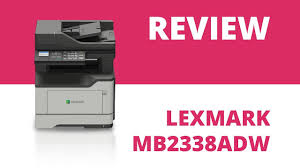 <b>Lexmark MB2338adw</b> A4 Mono Multifunction Laser Printer - YouTube