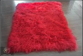 blue mongolian fur rugs red rug awesome lamb at special of mongolian sheep fur rug