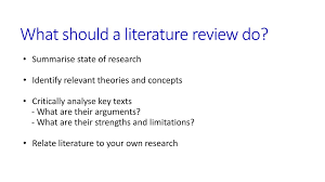 article literature review purposes